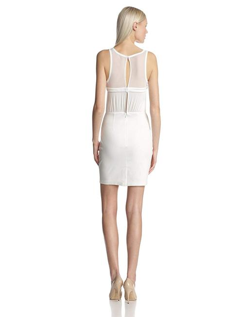 BCBGeneration Keyhole Bodycon Stretch Ruched Dress