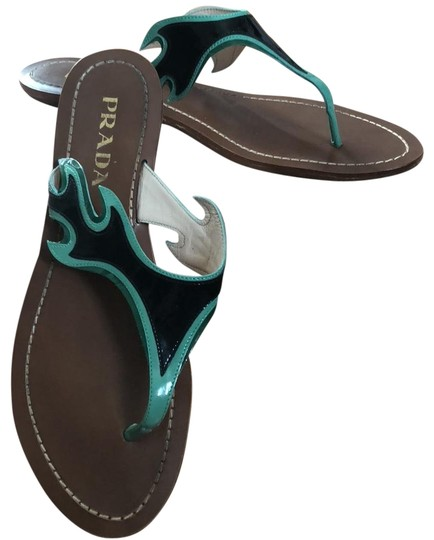 Preload https://img-static.tradesy.com/item/24290489/prada-black-green-accents-flame-rare-cult-sandals-size-us-7-regular-m-b-0-3-540-540.jpg