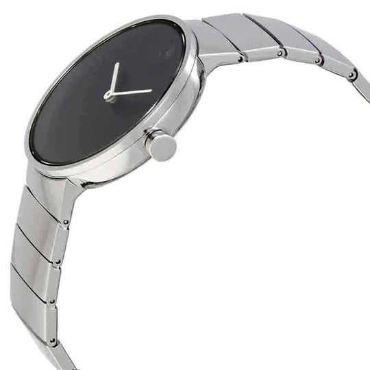 Movado Movado Edge Black Dial Stainless Steel Men's Watch 3680006