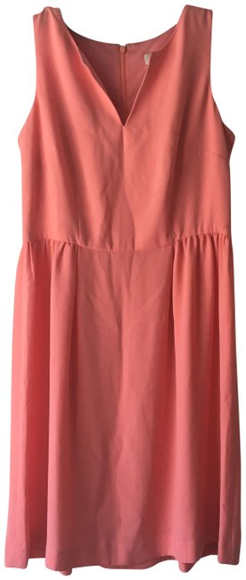 Preload https://img-static.tradesy.com/item/24290495/ann-taylor-loft-peach-notch-short-workoffice-dress-size-0-xs-0-3-650-650.jpg