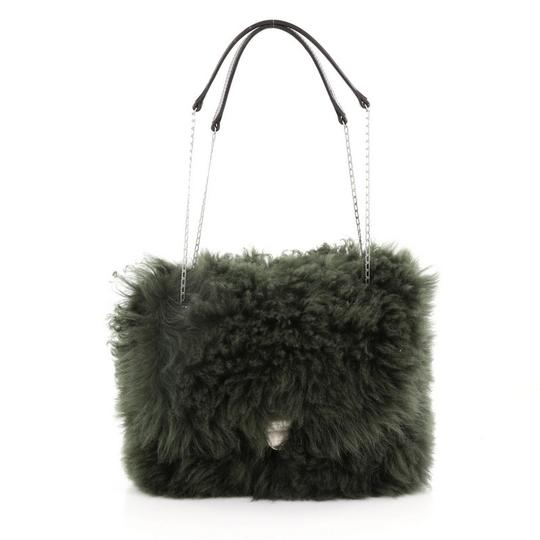 Preload https://img-static.tradesy.com/item/24290512/celine-chain-flap-small-green-shearling-wool-shoulder-bag-0-0-540-540.jpg