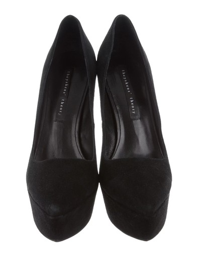 Theyskens' Theory Pump Suede Black Platforms