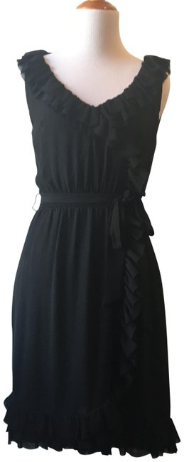 Preload https://img-static.tradesy.com/item/24290538/anthropologie-black-yoana-baraschi-delamere-ruffled-wrap-short-cocktail-dress-size-0-xs-0-3-650-650.jpg