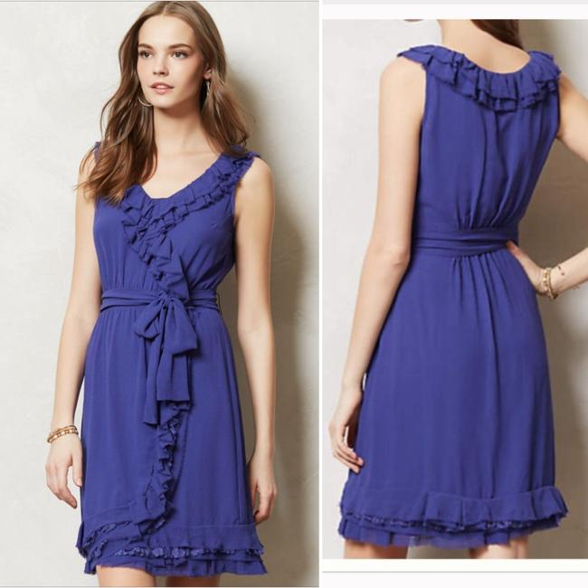 Anthropologie Ruffle Wrap Dress