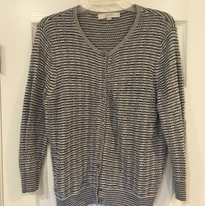 Ann Taylor LOFT Cardigan Metallic Sweater