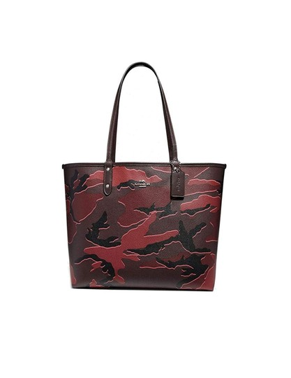 Preload https://img-static.tradesy.com/item/24290588/coach-city-reversible-tote-with-wild-camo-print-burgundy-multisilver-black-leather-shoulder-bag-0-0-540-540.jpg