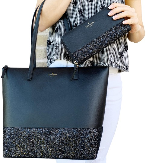 Preload https://img-static.tradesy.com/item/24290630/kate-spade-greta-court-penny-glitter-large-top-zip-and-wallet-set-black-leather-tote-0-3-540-540.jpg