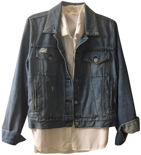 3X1 navy denim Womens Jean Jacket