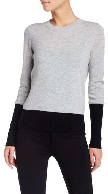 Preload https://item2.tradesy.com/images/vince-cashmere-colorblock-blackgrey-sweater-24290676-0-3.jpg?width=400&height=650