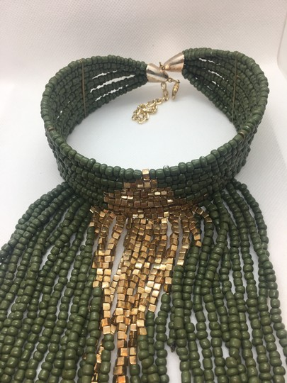 Preload https://img-static.tradesy.com/item/24290685/navy-green-and-gold-plated-multi-layer-statement-choker-euc-necklace-0-2-540-540.jpg