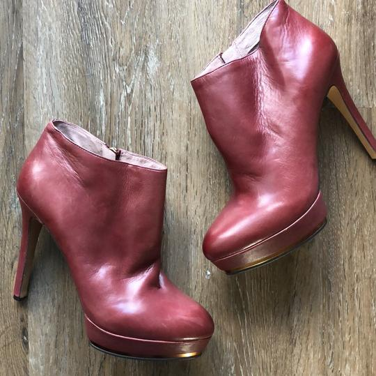 Vince Camuto Leather Designer Wine Boots