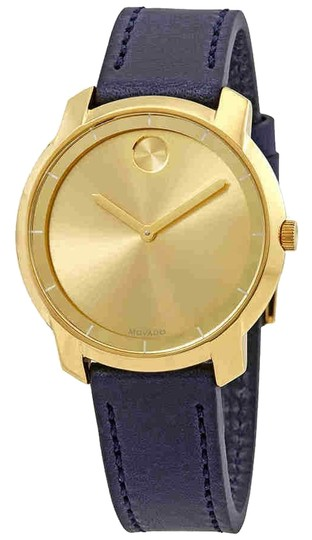 Preload https://img-static.tradesy.com/item/24290707/movado-bold-yellow-gold-sunray-dial-ladies-leather-3600474-watch-0-3-540-540.jpg