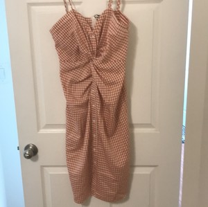 Zara short dress Deep coral and off-white on Tradesy