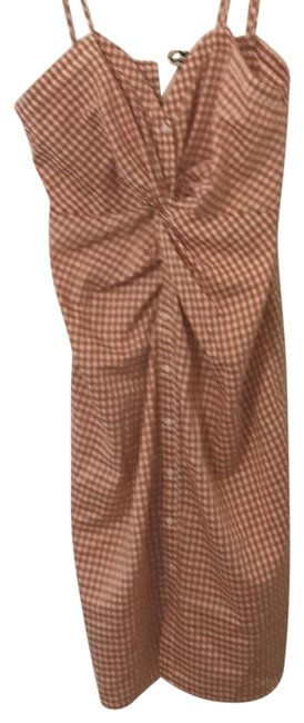 Preload https://img-static.tradesy.com/item/24290723/zara-deep-coral-and-off-white-gingham-mid-length-short-casual-dress-size-12-l-0-3-650-650.jpg