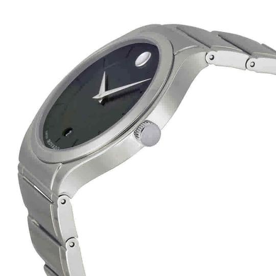 Movado Movado Quadro Black Dial Stainless Steel Men's Watch 0606478