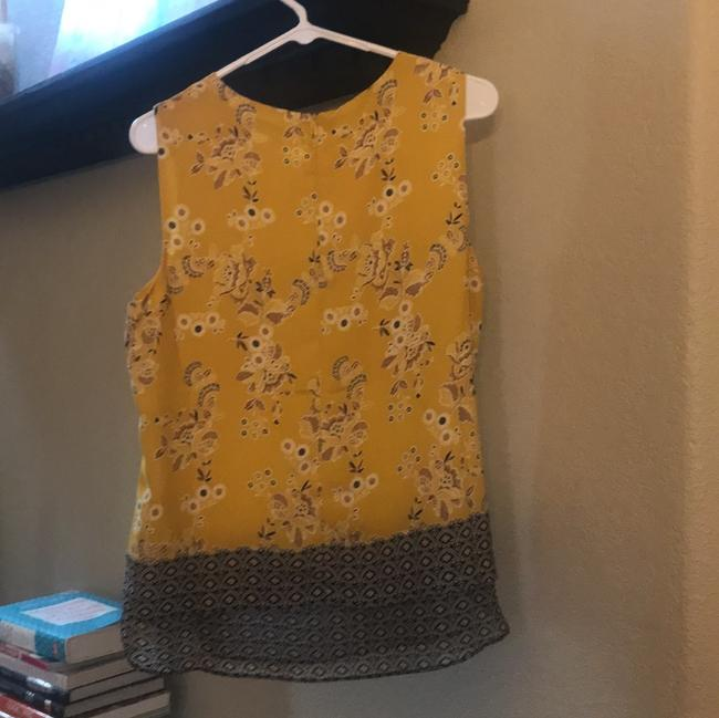 Rose & Olive Top yellow/black/pattern