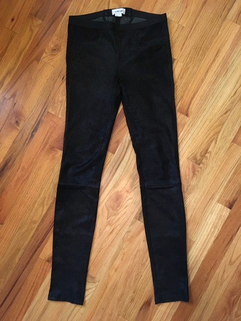 Helmut Lang Patina Pants Stretch Leather Patina Daphne Browell Black Leggings