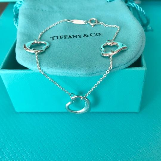 Tiffany & Co. Elsa Peretti Silver Triple Open Heart Bracelet w/Packaging