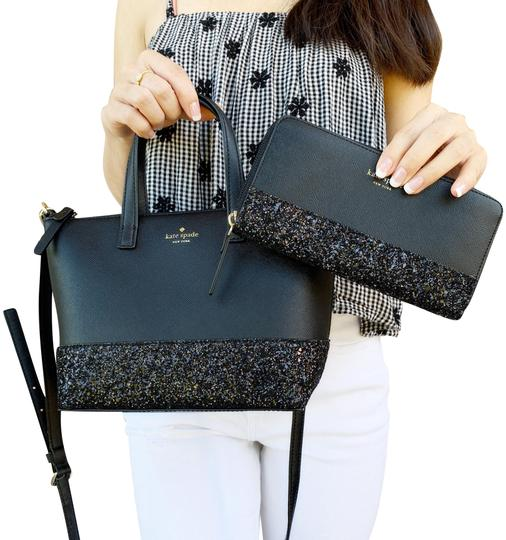 Preload https://img-static.tradesy.com/item/24290831/kate-spade-greta-court-ina-glitter-small-top-zip-satchel-wallet-set-black-leather-shoulder-bag-0-3-540-540.jpg