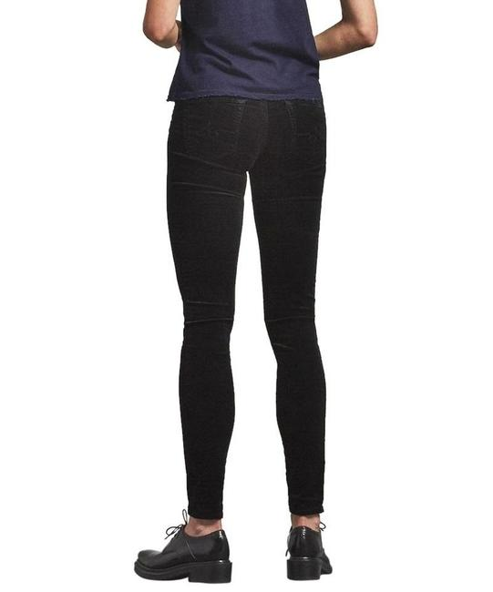 AG Adriano Goldschmied Velvet Maximalism Skinny Jeans-Coated