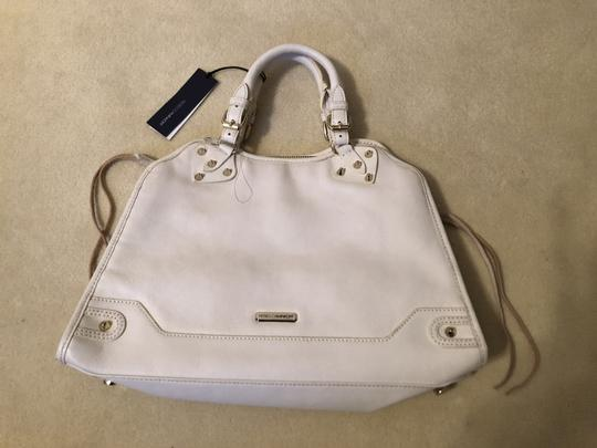 Rebecca Minkoff W/Tags Woven Satchel in White/Gold
