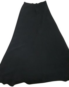 Other Vintage A-line Classic Chanel Maxi Skirt Black
