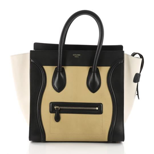 Preload https://img-static.tradesy.com/item/24290922/celine-luggage-tricolor-handbag-mini-yellow-off-white-and-black-leather-tote-0-0-540-540.jpg
