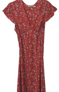Red with blue and white detail Maxi Dress by Kimchi Blue
