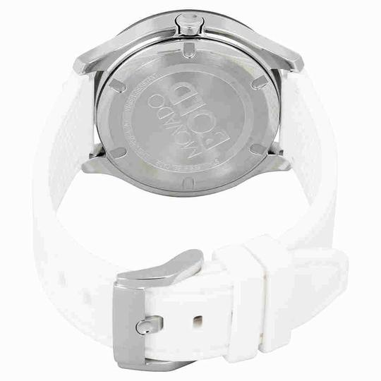 Movado Movado Bold Silver Dial White Silicone Ladies Watch 3600419