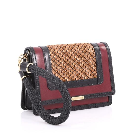 Burberry Leather Wristlet in brown and red