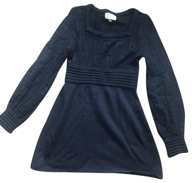Preload https://img-static.tradesy.com/item/24290981/navy-sweater-short-casual-dress-size-4-s-0-3-650-650.jpg