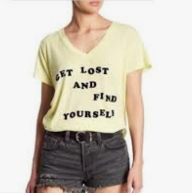 Preload https://img-static.tradesy.com/item/24290990/wildfox-yellow-get-lost-and-find-yourself-tee-shirt-size-2-xs-0-1-650-650.jpg