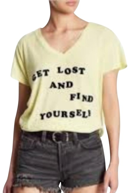 Preload https://img-static.tradesy.com/item/24290990/wildfox-yellow-get-lost-and-find-yourself-tee-shirt-size-2-xs-0-2-650-650.jpg