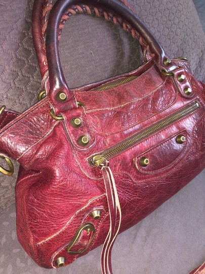 Balenciaga Tote in Burgundy