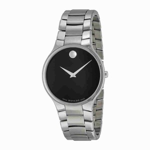 Movado Movado Serio Black Dial Stainless Steel Men's Watch 0606382
