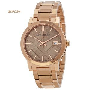 Burberry Brand New Burberry Rose Gold Dial Gold-tone Ladies Watch BU9034