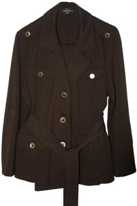 Fashion Bug Fashion Bug belted Pantsuit w military styling/antique brass buttons