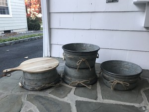 Ashland Silvery Gray Planters/Raisers For Food Or Decorations