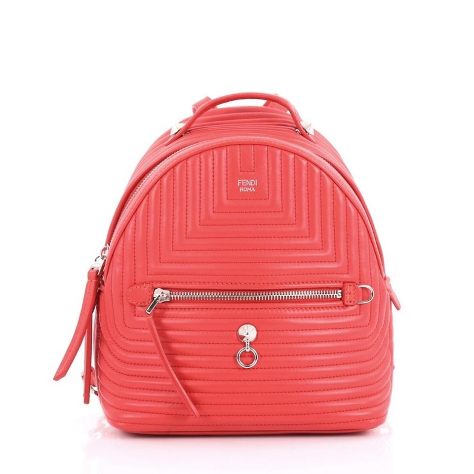 Fendi Dotcom Quilted Mini Red Leather Backpack - Tradesy d01f0d6eefe1d
