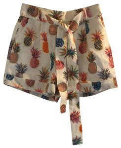J.Crew Dress Shorts White with printed pattern