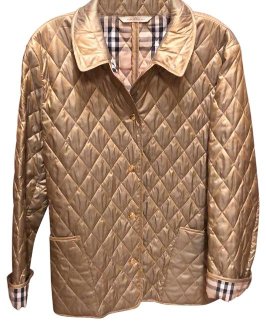 Item - Gold Shimmer Quilted Jacket Size 8 (M)