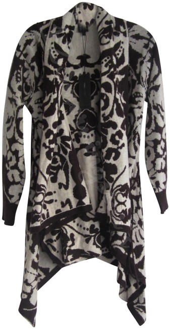Item - Paisley Asymmetrical Open Draped Wrap Style No. Bc33470 Chai/Oatmeal Sweater