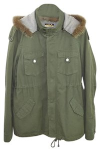 LaROK Fur Fall Winter Cotton Casual Military Jacket