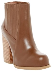 Catherine Malandrino Leather Chunky Brown Boots