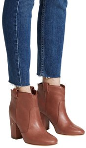 Laurence Dacade Leather Western Bohemian Heels Brown Boots