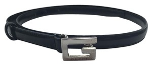 Gucci Gucci Black Skinny Belt