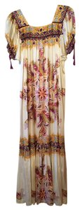 White Silk- Multi Maxi Dress by ECI New York