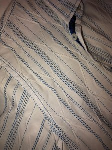 Georg Roth Los Angeles Embroidered Button Down Shirt Blue and white