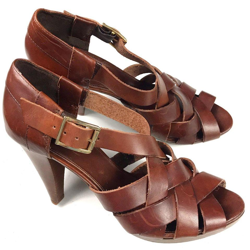 60469c319e85 J.Crew Brown Women s Leather Criss Made In Italy Sandals. Size  US 9 ...