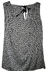 Ann Taylor Top White w/black animal print